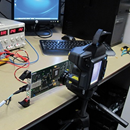 Thermal camera detects temperature differences on PCBs