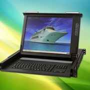 "New IP65 rated short-depth 1U rackmount 17"" LCD KVM"