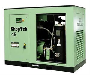 Sullair's latest line-up of stationary air power ShopTek compressors.