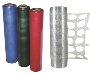 Specialty Wraps Pictured: Coloured Wrap & Air Flow Pallet Wrap