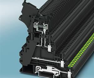 The new UT 4-PE/L/HESI fuse terminal block range with screw connection from Phoenix Contact offers a high degree of functionality on three levels with a pitch of just 6.2mm.