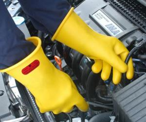 Rubber insulating gloves are life-saving tools that must be cared for and used as required.