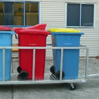 Wheelie bin trolleys can make waste management easier