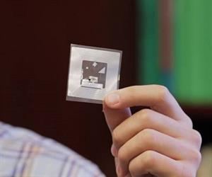 The MIT researchers' wireless chemical sensor. (Image: MIT)