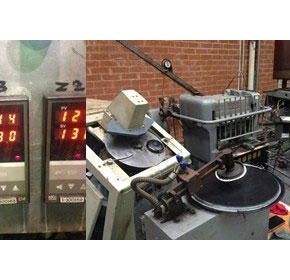 RKC temperature controller used in vinyl record manufacturing