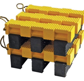 Plastic cribbing sets benchmarks for weight-bearing consistency