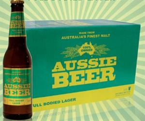 The packaging featured green and gold colours, which are colours closely associated with Australian sporting teams.