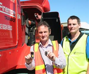 Glenn Griffiths (L) with Donaldson's Technical Representative, Tony Cooper (R).