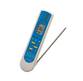 Infra-Red Thermometer with Fold-Out Thermocouple Probe | RT300