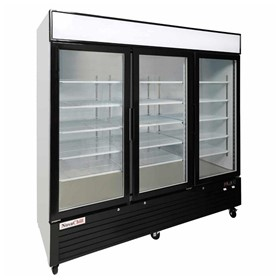 Triple Glass Door Upright Display Freezer