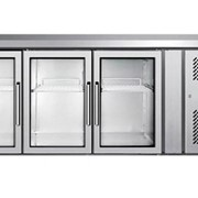 Stainless Steel 3 Glass Doors Under Bench Fridge - EPF3731