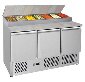 F.E.D Thermaster 444L Three Door Compact Salad Prep Top