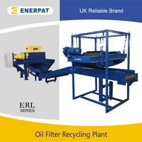 Oil Filter Double Shaft Shredder | Air Filter Recycling Line