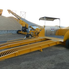 Bunker Filling Equipment | Auger Drive-Over Hoppers