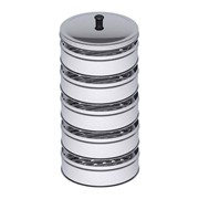 5 Tier Stainless Steel Steamers With Lid 28cm