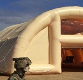 Cubic Defense inflatable shelter - Case Study