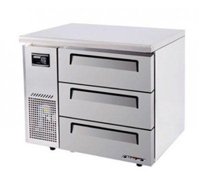 Turbo Air 3 Drawer Under Counter Side Prep Table Freezer | KUF9-3D