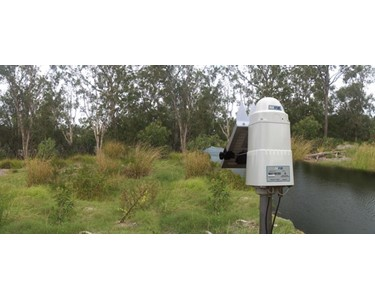 SatVUE monitoring water level of a creek