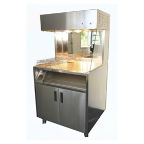 Heated Food Display | Fry Holding Station Freestanding on Castors