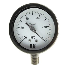 100mm Lower Mount Stainless Steel Pressure Gauge