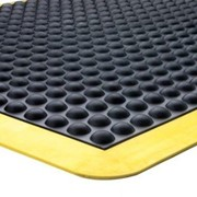 Small Anti Fatigue Dome Mat | Yellow Border 60cm x 90cm