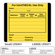 "Medical Identification Label ""For IntraTHECAL Use Only"""