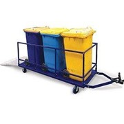 Modular Bin Trailer with Ramp - Multiple Wheelie Bin Mover