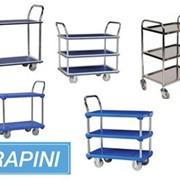 Traymobile Shelf Trolleys with Multi Tier Flat Beds - By Rapini
