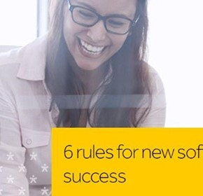 6 rules for new software system success.
