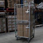 4 Sided Roll Cage Trolley