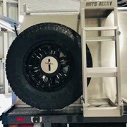 MITS Alloy Canopies | Spare Wheel Carrier