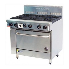 6 Burner Ranges With Fan Forced Convection Ovens | PF-6-28FF