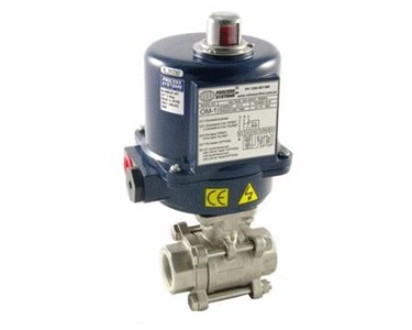 Series BLS, Economical 2 Way/3 Piece ST/ST Full Bore Ball Valve - Electrically/Pneumatically Actuated