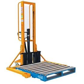 1000KG MANUAL PALLET STACKER STRADDLE LEG LIFTS 3.0M