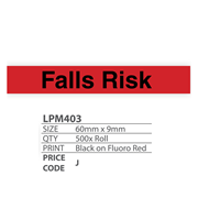 Medical Identification Labels - Falls Risk