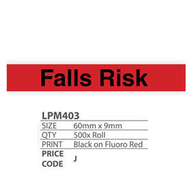 Medical Labels - Falls Risk