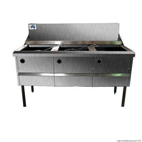 Gas Fish and Chips Fryer Three Fryer | WFS-3/18