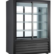 Double Sided Sliding Glass Door Fridge 330L