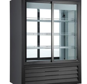 Norsk Double Sided Sliding Glass Door Fridge 330L