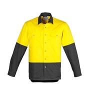 Protective Clothing | Mens Hi Vis Spliced Industrial Shirt