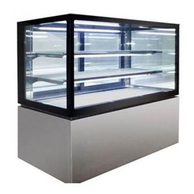 Square Glass Cake Display 3 Tier 1200mm | NDSV3740