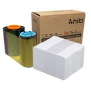 Colour Printer Ribbons with PVC Cards Bundle | Hiti CS200e