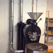 Ezi-Duct modular steel ducting system used for Vic coffee roaster
