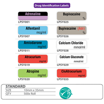 Drug & Syringe Identification Labels