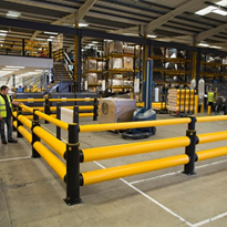 Safety Barrier | A-SAFE | Traffic Double-Rail+ iFlex Barrier