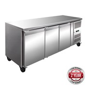 F.E.D Thermaster Tropicalised 3 Door Gastronorm Bench Freezer