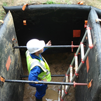 SMARTSHORE® trench protection sets up quickly to protect workers