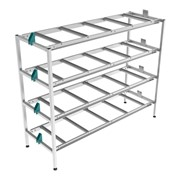 Mortuary Racking | 1 Bay Rack 4 Tier Light – 200kg