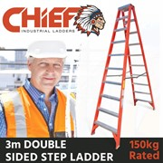 CHIEF Fibreglass Double Sided Step Ladders