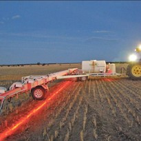 Agricultural Boom Spray Illumination LED Red Light. Night spray work